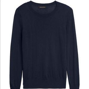 Silk Cashmere Crew-Neck Sweater Small